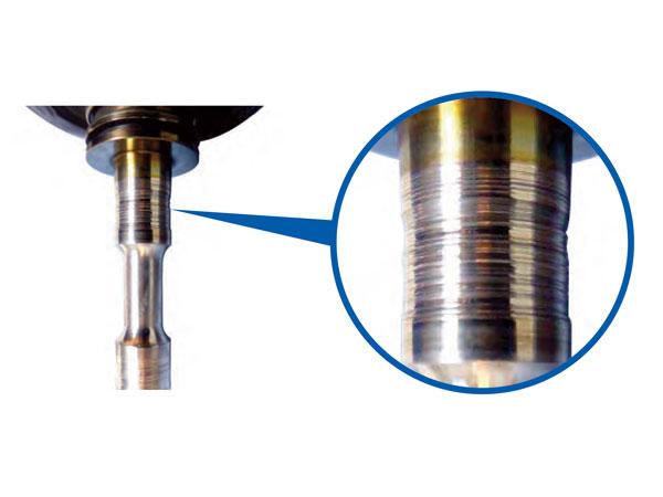 Urezani kanali na osovini turbopunjača