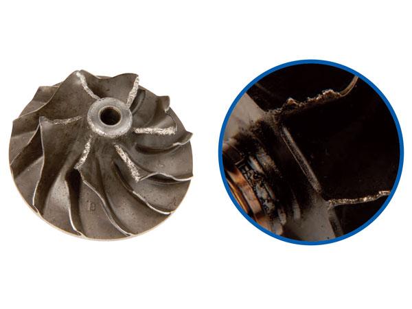 Oštećenja na kompresoru ili rotoru turbopunjača